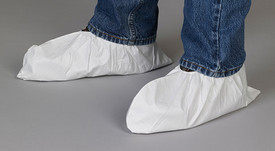 Lakeland MicroMax NS Shoe Covers Elastic Ankle -  Disposable White MicroMax NS Shoe Covers with Elastic Ankles