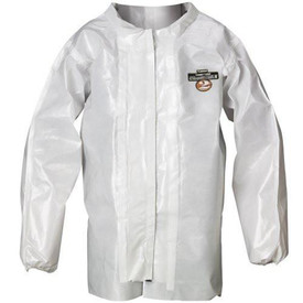 Lakeland C72250 ChemMax 2 Disposable White Jacket - Lakeland white chemical jacket with collar.