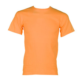 ML Kishigo Cotton Short Sleeve 1 Pocket T-Shirt - Front view of ML Kishigo high visibility neon orange t-shirt with cool microfiber polyester material. Left front chest pocket.