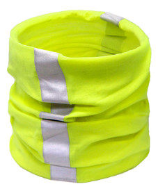 ML Kishigo Hi-Viz Multi-Wear Climate Shield - ML Kishigo high visibility yellow multi-wear climate shield with two vertical silver reflective stripes.