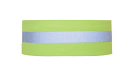 ML Kishigo 2 Inch Elastic Band Hi-Viz Arm/Ankle Bands - ML Kishigo high visibility yellow arm or ankle band with silver reflective stripe around the center. Hook and loop closure.