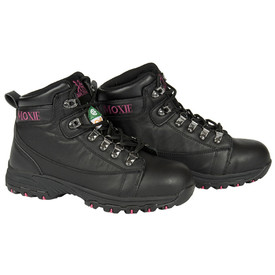 Women's Ultimate Lightweight 6 Inch Black Hiker - Vegas - Black Six inch lightweight pair of boots with metal lace holes and pink branding