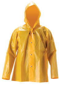 NASCO Lightweight Durable Hooded Rain Jacket -  Yellow rain jacket with hood