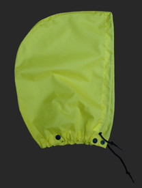 NASCO WorkLite Yellow Detachable Hood  -  Green rain hood