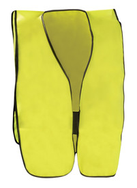 Occunomix NON-ANSI Solid Elastic Side Safety Vest - Occunomix Yellow high visibility solid vest and elastic side straps