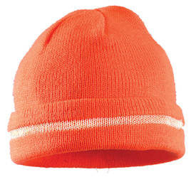 Occunomix Hi-Viz Caps - Occunomix High visibility orange beanie knit cap with fold up brim