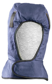 Occunomix 2 Layers FR Treated Shoulder Sherpa - Occunomix head protective liner with white soft lining and blue exterior with a Velcro neck flap