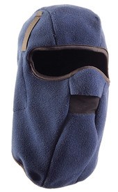 Occunomix Polyester Plush Fleece 13 Inch Winter Head Cover - Occunomix head protective liner with fleece lining, Blue exterior and full mouth and nose protection