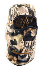 Occunomix Polyester Plush Fleece 13 Inch Camo Head Cover - Occunomix head protective liner with fleece lining, Camo exterior and full mouth and nose protection