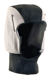 Occunomix Polyester Plush Fleece Mid Length Head Protector - Occunomix head protective liner with fleece lining, Gray and Black exterior and full neck coverage