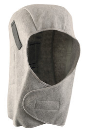 Occunomix Polyester Plush Fleece 13 Inch Head Cover - Occunomix head protective liner with fleece lining, Gray exterior and full neck coverage with large Velcro flap