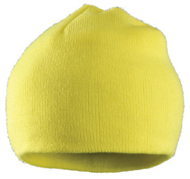 Occunomix Hi-Viz Insulated Beanie Made in USA - Occunomix Yellow Hi-Viz head beanie style knit cap