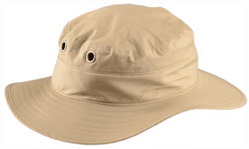 Occunomix Miracool Khaki Ranger Hat - Occunomix Tan ranger hat with wide brim and has 2 holes with metal grommets