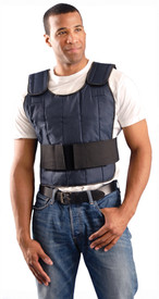 Occunomix Nylon Cooling Vest No Cooling Packs - Occunomix Blue shoulder and waist heavy cooling full torso safety vest