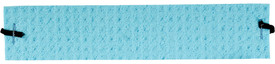 Occunomix Deluxe Thick Pre-Moistened Sweatband - Occunomix Blue absorbent sweatband with black connector holes for elastic attachment to forehead