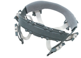 Occunomix 6 Point Squeeze Lock Suspension Replacement - Occunomix grey 6 point squeeze lock suspension replacement for hard hats