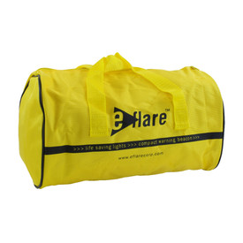 E-Flare Emergency Beacon Yellow Storage Bags - Bright yellow zippered containment bag for emergency beacon, duffle bag style.