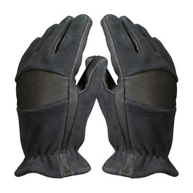Smokeshow Black Nomex/Kevlar Structural Firefighting Gloves - Cowhide heavy duty gray and black safety fire gloves.