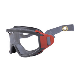 ESS X-Tricator Fire Rescue Anti-Fog Flame Resistant Goggles - Gray and red foam padded full frame clear lens safety anti fog flame resistant goggles.