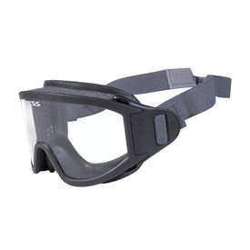 Striketeam Fog Eliminator Speed Strap Fire Rescue Helmet Goggles - Gray foam padded full frame clear lens safety anti fog flame resistant goggles.