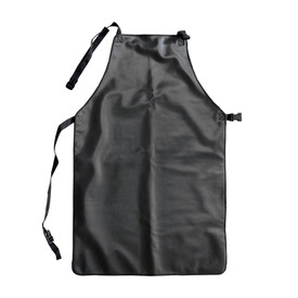 Temp-Gard Liquid Proof Extreme Temperature Apron - Dark black liquid proof thermal safety work apron with black clip straps.