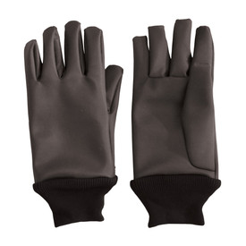 Temp-Gard Water Proof Water Resistant Extreme Temp Gloves - Dark black water proof thermal safety work gloves with elastic fabric wrists.
