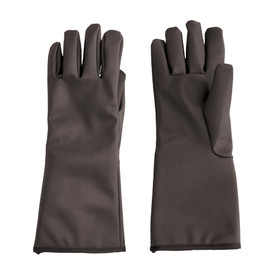 Temp-Gard Liquid Proof Extreme Temp Mid-Arm Gloves - Dark black water proof thermal safety work gloves with long wrist guard.