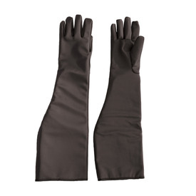 Temp-Gard Liquid Proof Extreme Temp Shoulder Gloves - Dark black water proof thermal safety work gloves with long shoulder length guard.