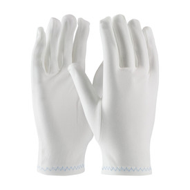 Critical Environment Heavy Nylon Stretch Inspection Gloves - Pair of two white safety inspection work gloves shown upright.
