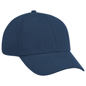 Red Kap Unisex Cotton Ball Cap - Red Kap red cap with pleats. With upper smaller holes. 1 Single circle marker in front. Front view.