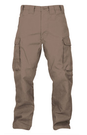 True North Dragon Slayer DWPSA 7 oz Advance Flame Resistant Pants - Khaki flame resistant pants with side cargo pockets, front pockets, belt loops and button closure with zipper.
