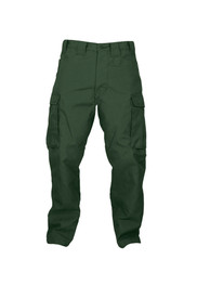 True North Dragon Slayer DWPSA 7 oz Advance Flame Resistant Pants - Green flame resistant pants with side cargo pockets, front pockets, belt loops and button closure with zipper.