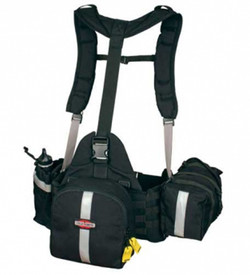 True North Spyder SGR6210 Gear Pack - Large gear suspension system with small black pack with main and side zippered pockets.