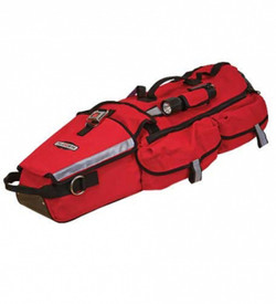 True North RBL20 Heat Shield and Skid Plate L-2 RIT Bag - Durable red transportation bag with external flaps, pockets, buckles and reflective strips.