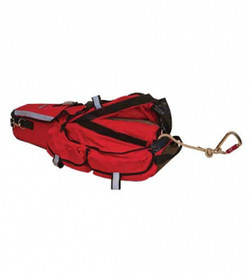 True North RBL21 L-2 200 ft. Search Rope Bag - Red pack for containing search and rescue ropes, full view.