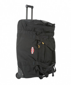 True North Large Black Duffle Bag - Large black duffle bag with wheels and extension handle.
