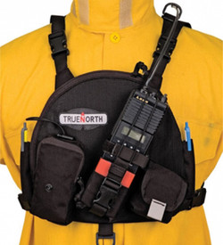 True North RH6100 Chest Radio Single Harness - Over chest harness to carry any hand held radio.