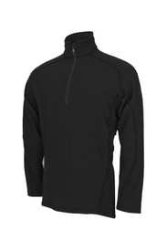 True North DFB2  FR 1/4 Zip 9.2 oz Hazard Shirt - Black long sleeved quarter zip sweatshirt with stand up neck.