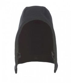 True North DFS001 DragonShield Attachable Hood - Black hood with pull cord on each side.