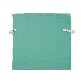 PIP IronTex Flame Resistant Cotton Welding Bib - Adjustable size clip dark green welding bib with button holes.