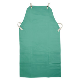 PIP IronTex Flame Resistant Cotton Welding Apron - Dark green flame resistant double end elastic welding apron with size adjustable clips.