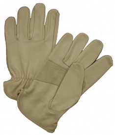 West Chester Premium Cowhide Leather Driver Work Glove - Premium brown leather glove with extra palm patch.
