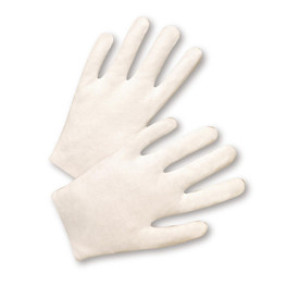 PIP 100% Cotton Lisle Gloves - Pair of two easy fit cotton safety work gloves.