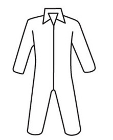 West Chester White SMS Zipper Coverall - White safety front zippered coverall with collar and loose wrists and ankles.