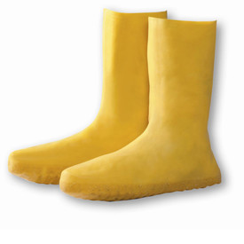 West Chester Lightweight Yellow Latex Rain Boots - Solid yellow latex bottom treaded lightweight rain boots.