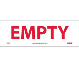 "Empty 4x12 Sign - Aris Industrial White rectangular sign with a words ""EMPTY"" in red text."