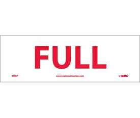 "Full 4x12 Sign - Aris Industrial White rectangular sign with a words ""FULL"" in red text."