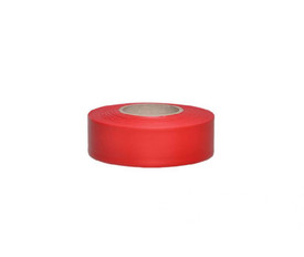 Restricted Barricade Flagging Tape In 6 Colors - Aris Industrial  roll of red orange Barricade Flagging Tape.