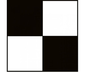 Checkerboard 2 Inch Safety Tape in Variety of Colors - Aris Industrial Black and white checkerboard safety tape.