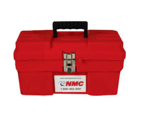 Red Plastic Lockout Toolboxes - Aris Industrial Red Plastic 13 Inch Lockout Toolbox